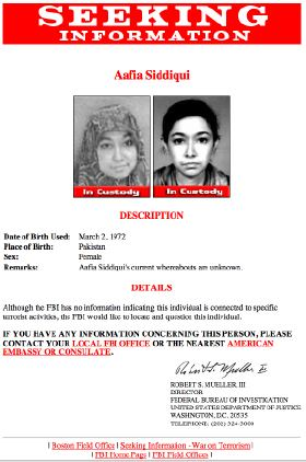 Aafia Siddiqui-FBI Notice