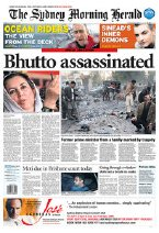 Newspaper Front Pages From Around the World on Benazir Bhutto's Death