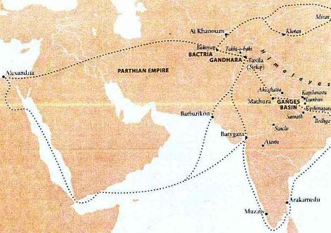AncientTradeRoutes Hellenistic and Parthian Gandhara