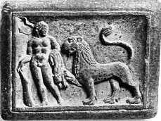 HeracleswithNemeanLioninwrestlingco Hellenistic and Parthian Gandhara
