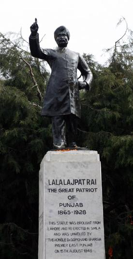Lajpat Rai Statute moved from lahore to Simla