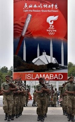 Olympic torch in Pakistan
