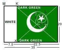 Pakistan flag dimensions