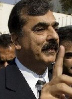 Pakistan Prime Minister Yousuf Raza Gillani
