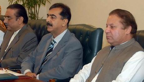 Asif Zardari Yousuf Gillani Nawaz Sharif