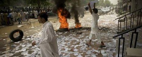 Violence outside Karachi, Lahore, Islamabad Stock Exchanges, Pakistan