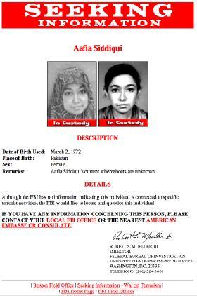 Aafia Siddiqui-FBI Notice
