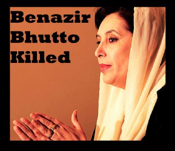 Assassinated Prime Minister of Pakistan Benazir Bhutto