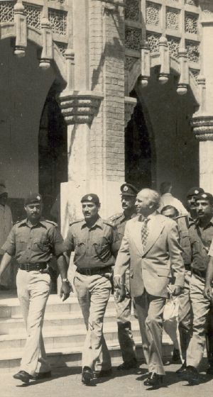 Zulfiqar Ali Bhutto in Court for his murder trial by Zia ul Haq