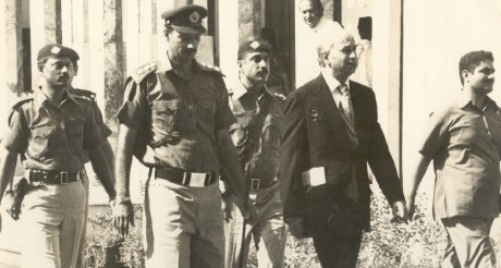 Zulfiqar Ali Bhutto going to Court for his Murder trial