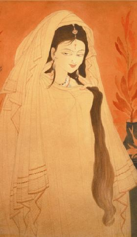 Heer painted by Chughtai
