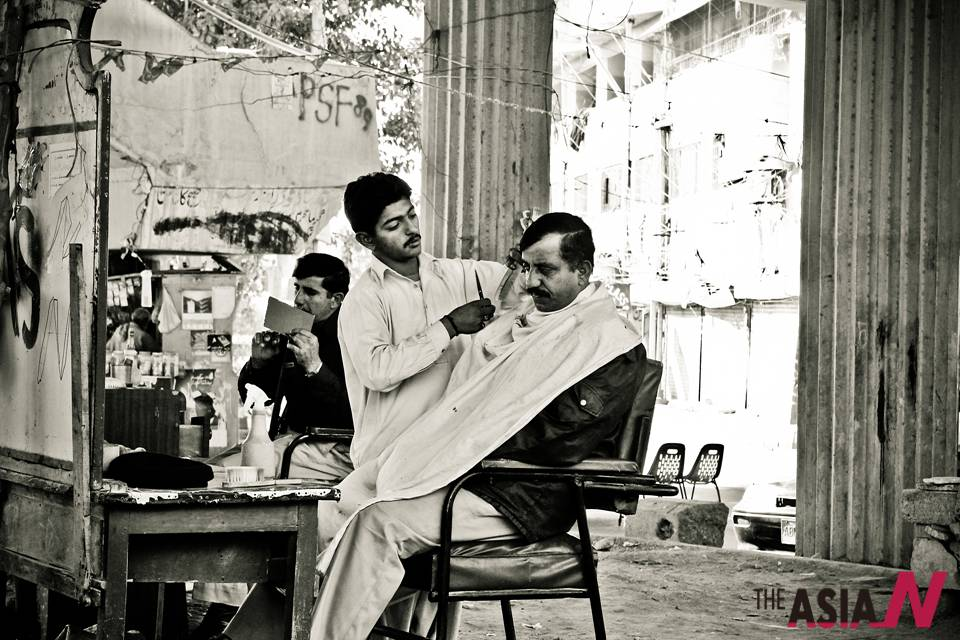 Karachi hair cut style naai barber